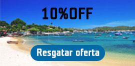 10%OFF para suas viagens*